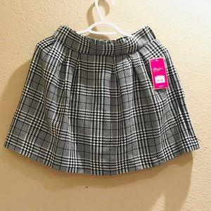 Plaid Skirt, Black and White Skirt